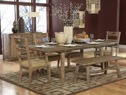 dark wooden rustic dining table and chairs oak traditional room