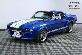 1967 blue mustang 1967 blue eleanor shelby gt500 tribute restored for sale photos