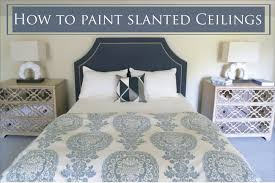 slanted ceiling bedroom angled walls or slanted ceilings why you need to paint them like