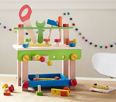 Toy Wooden Tool Bench Mini Construction Bench Pottery Barn Kids