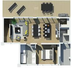 floor plan salon e3c avec toit cathédrale enlever salon plan petite maison