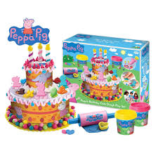 peppa pig pepp003 kids children birthday cake dough play game set new