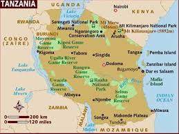 Zanzibar Map Travelling With Steve And Marlene Tanzania In The Wilds Of Africa