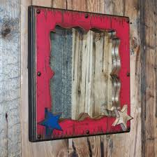 red white u0026 blue decorative wood mirror wood framed