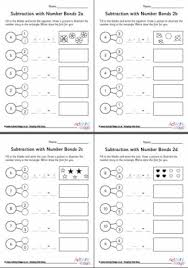subtraction by counting back worksheets set 1