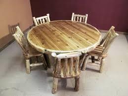Log Dining Room Table Round Log Table U2014 Barn Wood Furniture Rustic Barnwood And Log
