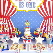 carnival themed party digital file party kit carnival animals decorations party kit