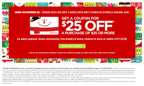 discount gift cards online jcpenney spend 100 on jcp gift card and get 25 25 coupon