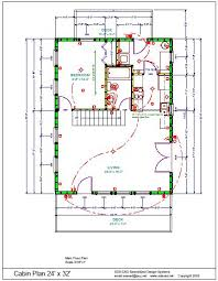 cottage floor plans free 24 x 32 cabin plans cabin plans