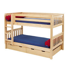furniture of america ridge adjustable twin over bunk bed with