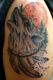 chriscollett wolf wolf moon trees catcher