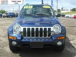 2003 blue jeep liberty for sale 2003 passenger car jeep liberty limited atchison
