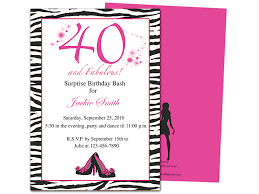 40th party invites home templates birthday party invitations