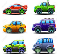 yellow jeep clipart illustration of six different types of automobiles view left