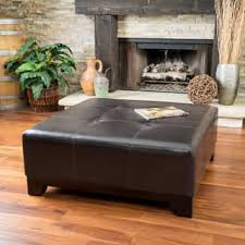 Square Brown Leather Ottoman Square Ottomans Storage Ottomans For Less Overstock
