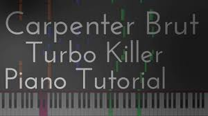 tutorial drum download carpenter brut turbo killer piano tutorial with drums and