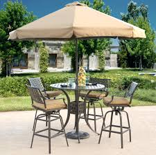 Patio Table With Umbrella Hole Patio Ideas Bar Height Patio Set With Swivel Chairs Patio Bar