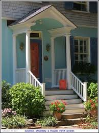 colonial front porch designs colonial entrance with railing on steps era appropriate wall