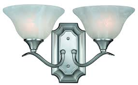 Lighting Fictures by Hardware House H10 4692 Dover 2 Light Bath Or Wall Fixture Satin