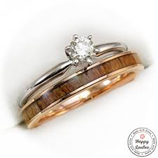 diamond wood rings images White gold solitaire black diamond engagement ring with ebony wood jpg