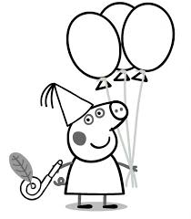 Peppa Pig Birthday Coloring Pages 99coloring Com For Sarah Pig Coloring Pages