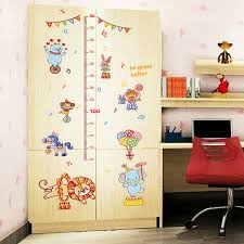 Circus Home Decor Animal Circus Child Height Measurement Stickers For