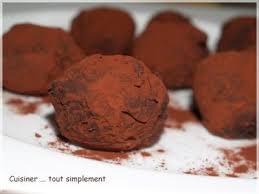 cuisiner truffe recette truffes chocolat marron et noisettes 750g