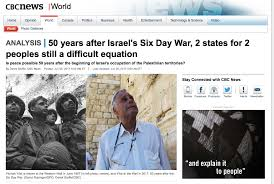 the 50th anniversary of the six day war honest reporting canada