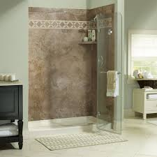 cove 1 4 u2033 framelss retractable shower shield foremost bath