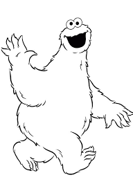 free colouring pages cookie monster coloring book design
