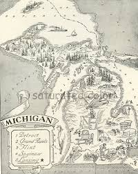 Grand Rapids Zip Code Map by Vintage Map Of Michigan Michigan Map