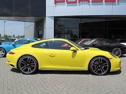 yellow porsche 2017 porsche 911 4s