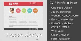 20 free and premium resume cv html website templates and layouts