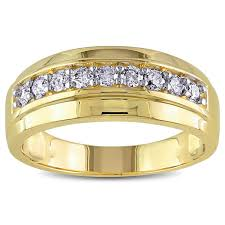 gold mens wedding band miadora 10k yellow gold s 1 2ct tdw wedding band