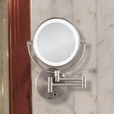Lighted Wall Mount Vanity Mirror Makeup U0026 Shaving Mirrors You U0027ll Love Wayfair