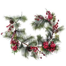 frosted pine garland with berries hobby lobby 5027412