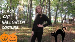 girls black cat halloween costume diy easy black cat halloween costume youtube