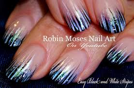 easy stripe nails tutorial design diy nail art for beginners