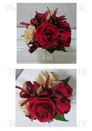 Red Rose Corsage The Floral Touch Uk Com Wrist Corsages Prom Corsage Wrist
