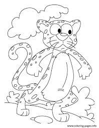 kids cartoon cheetah sc91b coloring pages printable
