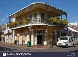 typical old residential house in the french quarter of new orleans