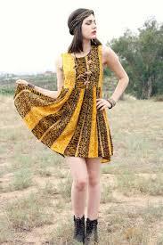 women u0027s yellow leopard skater dress dark brown leather lace up