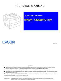 epson aculaser c1100 service manual printed circuit board