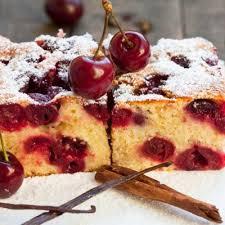 appetizers glazed cherry sponge cake recipe recipe4living