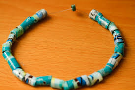 How To Make Jewelry Beads At Home - how to make beads out of recycled chip bags with pictures