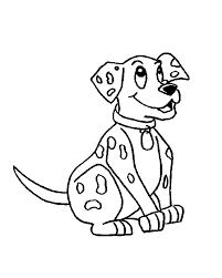 super idea dalmation animal coloring pages cute dalmatian puppy