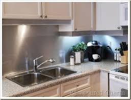 Recaptured Charm Backsplash With The Look Of Stainless Steel - Stainless steel backsplash
