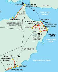 map of oman and uae oman adventure travel for 50 plus