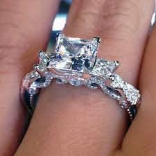 Wedding Rings Princess Cut by Top 10 Twisted Shank Engagement Rings The 3 Princess Cut And