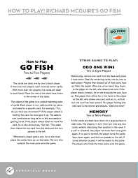 how to play the fish table richard mcguire s go fish card game richard mcguire 9781452146553